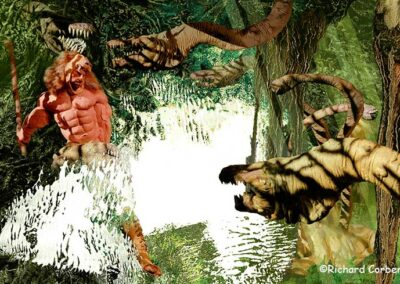 Richard Corben's painting of Heracles fighting the Hydra.