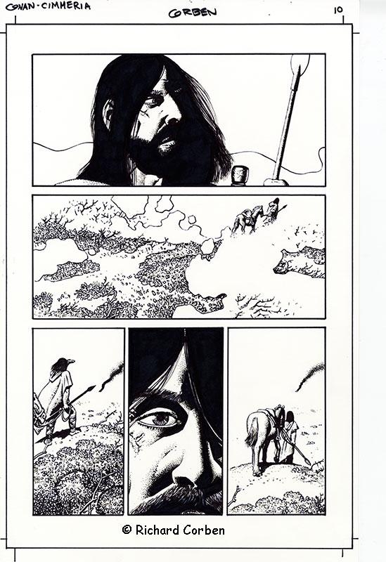 Richard Corben's comic book illustration of the story, Conan-Cimmeria, page 10.