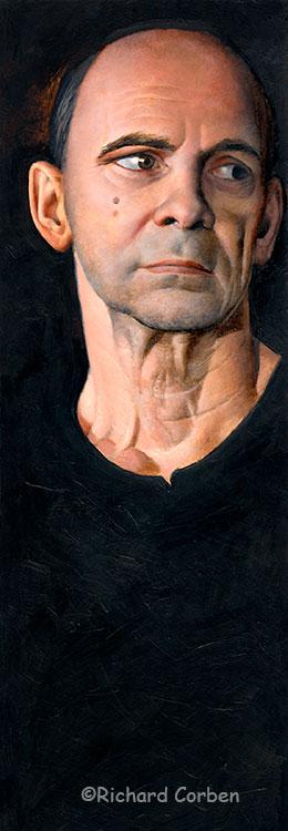 Richard Corben's self portrait looking to the left.