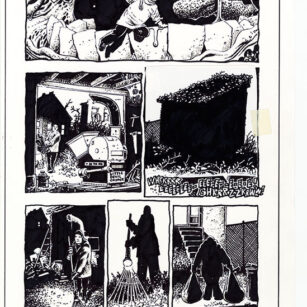 Richard Corben's illustration of the story, Bernice, page 5, in the Haunt of Horror comic series.
