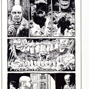 Richard Corben's comic book illustration of the story, Bernice, page, 7, in the series Haunt of Horror.