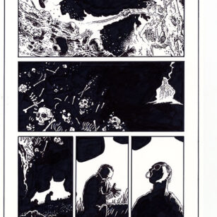 Richard Corben's comic book illustration of the story,Last Full Measure, page 8.