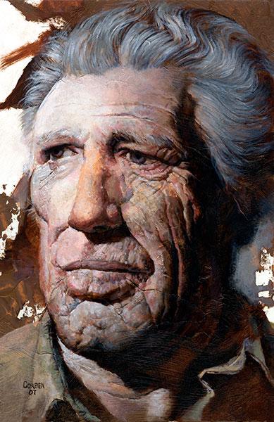Richard Corben's portrait painting of older gentleman, Phil.