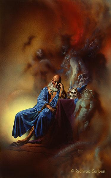 Richard Corben's painting of Wizard's Dreams.
